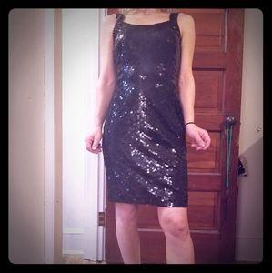 Interlocking Sequins Dress